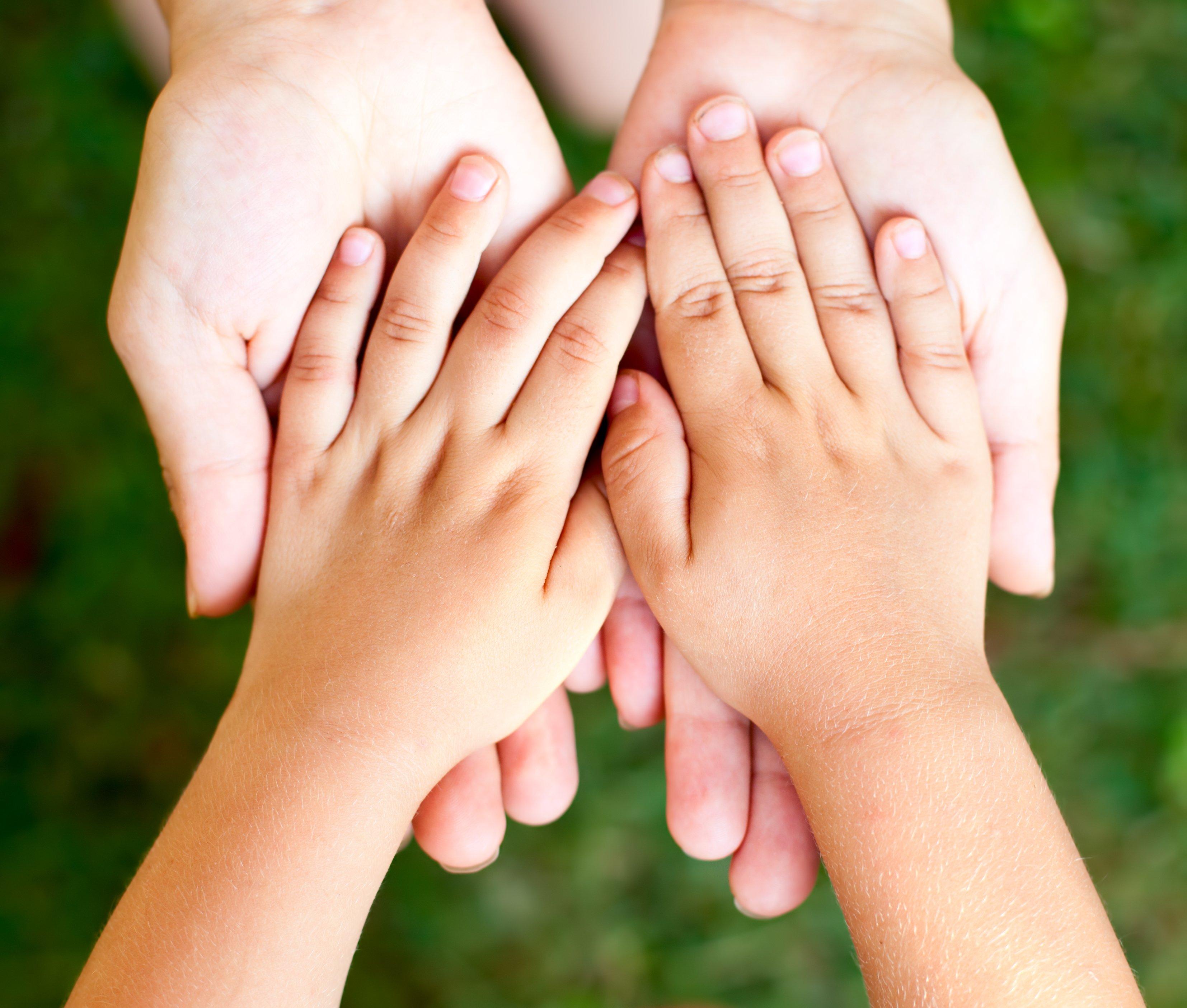 Handen Steunen Kind