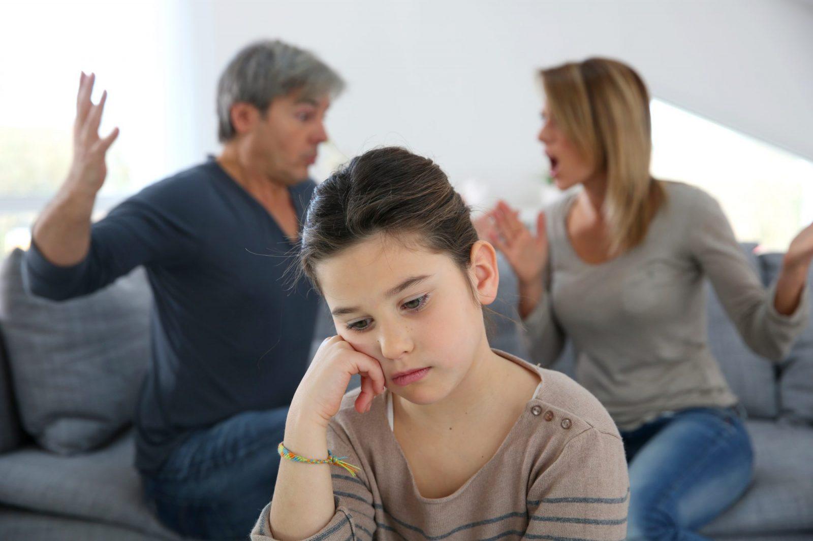 Echtscheiding Ouders Ruzie Kind Verdrietig
