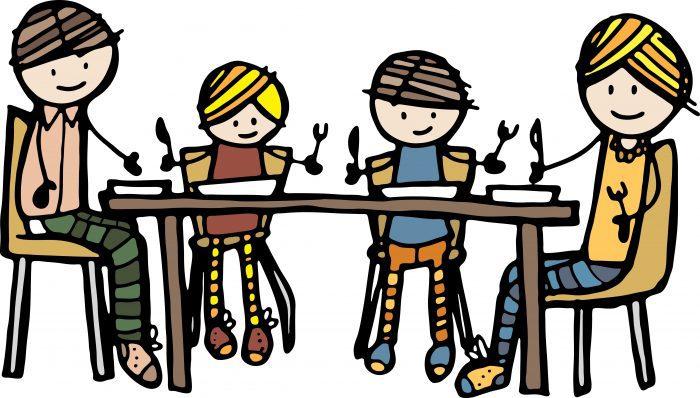 Plaatje gezin aan tafel - wat doe je als je kind niet eet