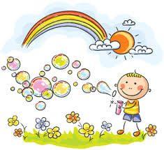 Vrolijk plaatje met regenboog - vergroot zelfvertrouwen en geluk van je kind