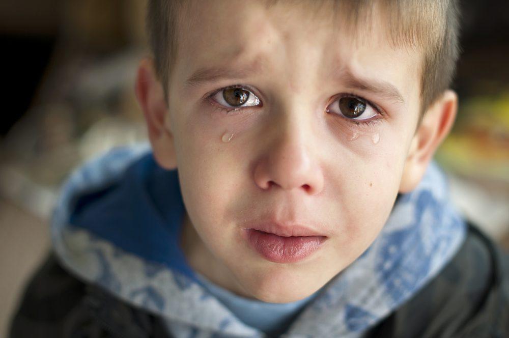 Verdrietige Jongen